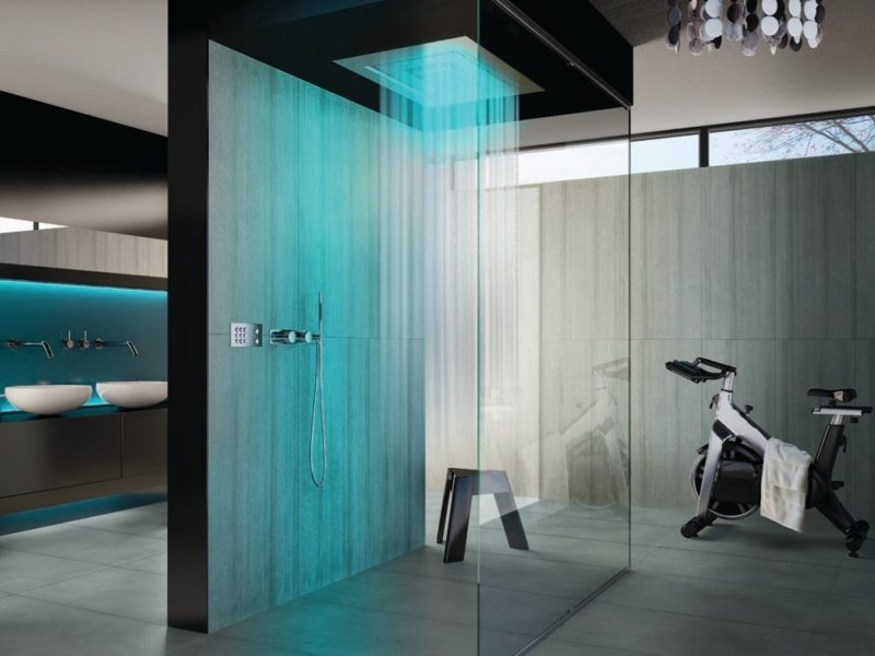 futuristic shower